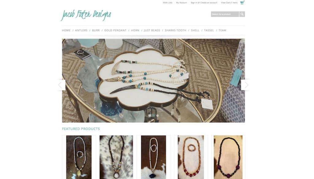 Jacob-Foster-Designs-e-commerce-site